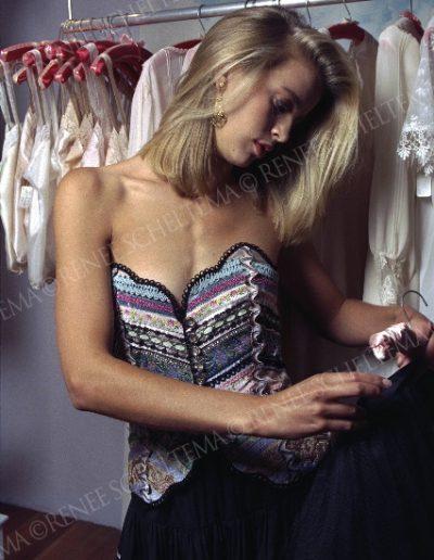 Model in shop